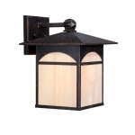 "11"" 100W Canyon Series Wall Lantern w/ Honey Glass, Umber Bronze"