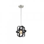60W Prana Series Mini Pendant Light, E26, Matte Black