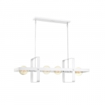 60W Prana Series Island Pendant Light, 4 Lights, White