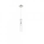 60W Spyglass Series Mini Pendant Light w/ Clear Glass, Polished Nickel