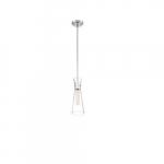 60W Bahari Series Mini Pendant Light w/ Clear Glass, Polished Nickel