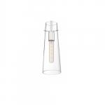 60W Alondra Series Mini Pendant Light w/ Clear Glass, Polished Nickel