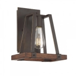 60W Outrigger Series Wall Sconce, Mahogany Bronze & Nutmeg