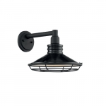 60W Blue Harbor Series Wall Sconce, Black & Silver