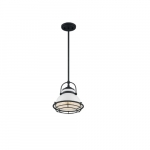 60W Upton Series Pendant Light, Gloss White & Black