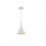 60W Lightcap Series Pendant Light, Matte White