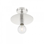 60W Bizet Series Semi Flush Ceiling Light, Polished Nickel