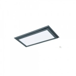 22W 1X2 LED Surface Mount Fixture, 3000K, Gunmetal
