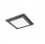 18W 1X1 LED Surface Mount Fixture, 3000K, Gunmetal