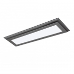 "22W 24"" LED Flat Panel, Dimmable, 3000K, Gun Metal"
