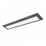 "30W 36"" LED Flat Panel, Dimmable, 3000K, Gun Metal"