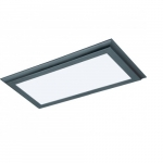 22W 1X2 LED Flat Panel, Dimmable, 3000K, Bronze