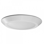 12W Round 10 Inch LED Flush Mount, Dimmable, 3000K, White
