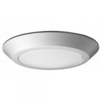 12W Round 10 Inch LED Flush Mount, Dimmable, 3000K, Brushed Nickel