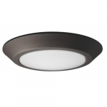 12W Round 10 Inch LED Flush Mount, Dimmable, 3000K, Mahogany Bronze