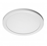 22W Round 15 Inch LED Flush Mount, Dimmable, 4000K, White