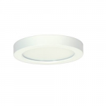 """13.5W 7"""" Round LED Flush Mount, 2700K, Dimmable, White"""
