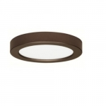 """18.5W 9"""" Round LED Flush Mount, 2700K, Dimmable, Bronze"""