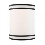 10W Glamour LED Wall Sconce w/ White Acrylic Lens, 850 lm, 3000K, Matte Black