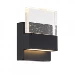 15W LED Ellusion Series Wall Sconce w/ Seeded Glass, Dim, 675 lm, 3000K, Matte Black