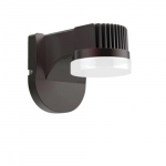 14W LED Corridor Wall Pack w/Photocell, 5000K,Bronze Finish
