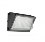 81W LED Wall Pack Security Flood Light, 5000K, Bronze Finish, Borosilicate Glass