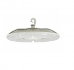 151W LED Circular Hi-Bay Fixture, 5000K, White Finish