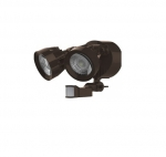24W LED SIngle Head Security Light w/Motion Sensor, Bronze Finish, 4000K