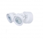 24W LED Dual Head Security Light, White Finish, 4000K