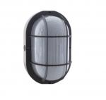 10W LED Bulk Head Fixture, 3000K, Black Finish