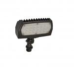 12W Adjustable Small LED Flood Light, 5000K, Bronze