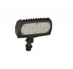 12W Adjustable Small LED Flood Light, 4000K, Bronze