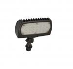 12W Adjustable Small LED Flood Light, 3000K, Bronze