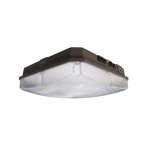 40W LED Canopy Light, Dimmable, 4800 lm, 4000K, Bronze