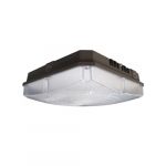 28W LED Canopy Light, Dimmable, 3360 lm, 4000K, Bronze