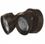 24W Dual Head LED Security Light, Bronze, 3000K