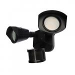 20W LED Dual Head Security Light w/ Motion Sensor, 1900 lm, 3000K, Black