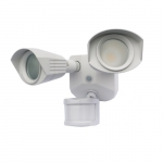 20W LED Dual Head Security Light w/ Motion Sensor, 1900 lm, 4000K, White