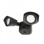20W LED Security Light, Dual Head, 1900 lm, 4000K, Bronze