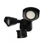 20W LED Dual Head Security Light w/ Motion Sensor, 1900 lm, 4000K, Black
