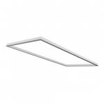 2X4 LED Flat Panel Flange Kit Accessory, White