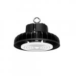 100W LED UFO High Bay Fixture, 13000 lm, 5000K, Black