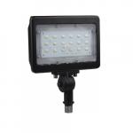 30W LED Medium Flood Light w/ Knuckle Mount, 3432 lm, 5000K, Bronze