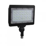 50W LED Large Flood Light, 5778 lm, 4000K, Bronze