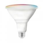 15W Smart LED PAR38 Bulb, E26, 1200 lm, 120V, RGB & Tunable White