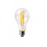 14W LED A21 Bulb, 100W Inc. Retrofit, Dim, E26, 1600 lm, 120V, 3000K, Clear