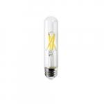 8W LED T9 Tube, 60W Inc. Retrofit, Dim, E26, 800 lm, 120V, 2700K, Clear