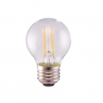 5.5W LED G16 Bulb, Dimmable, 60W Inc. Retrofit, 500 lm, 3000K, Clear