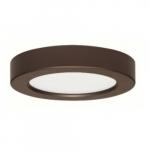 10.5W Round 5.5 Inch LED Flush Mount, Dimmable, 3000K, Bronze