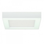 10.5W Square 5.5 Inch LED Flush Mount, Dimmable, 5000K, White